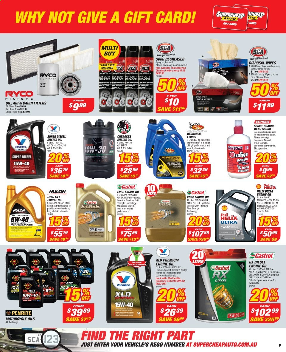 Supercheap Auto catalogue  - 13.11.2019 - 24.11.2019. Page 9.