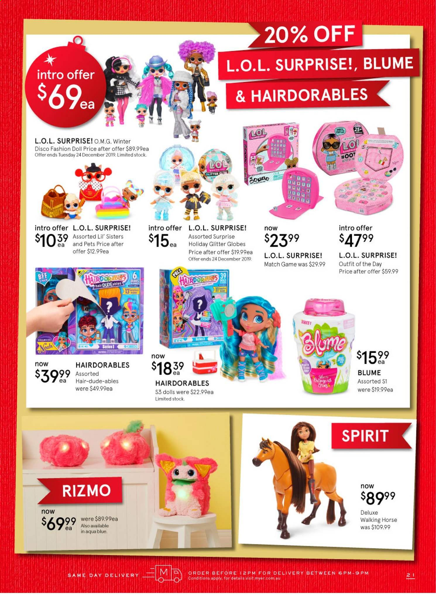 Myer catalogue  - 12.11.2019 - 24.12.2019. Page 21.