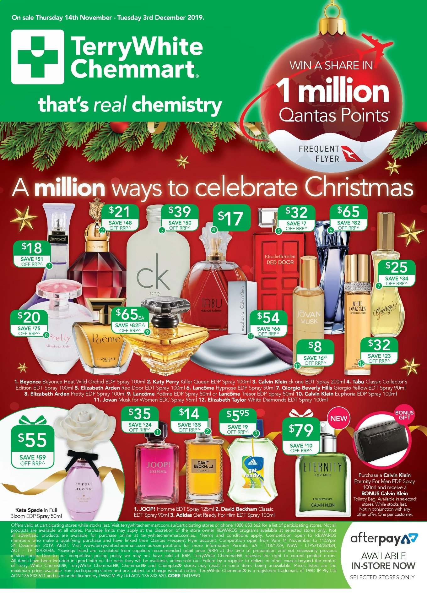 TerryWhite Chemmart catalogue  - 14.11.2019 - 3.12.2019. Page 1.