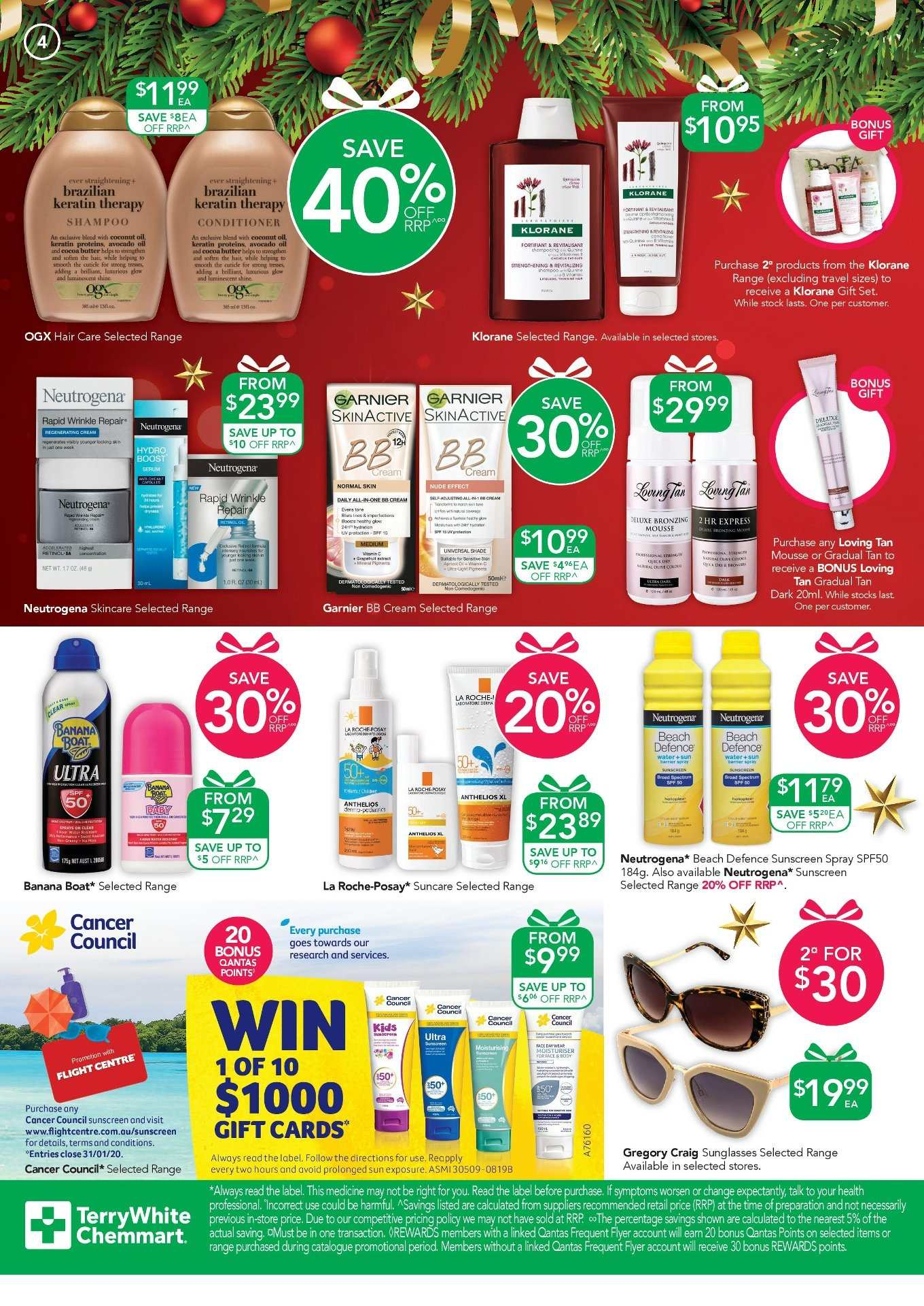 TerryWhite Chemmart catalogue  - 14.11.2019 - 3.12.2019. Page 4.