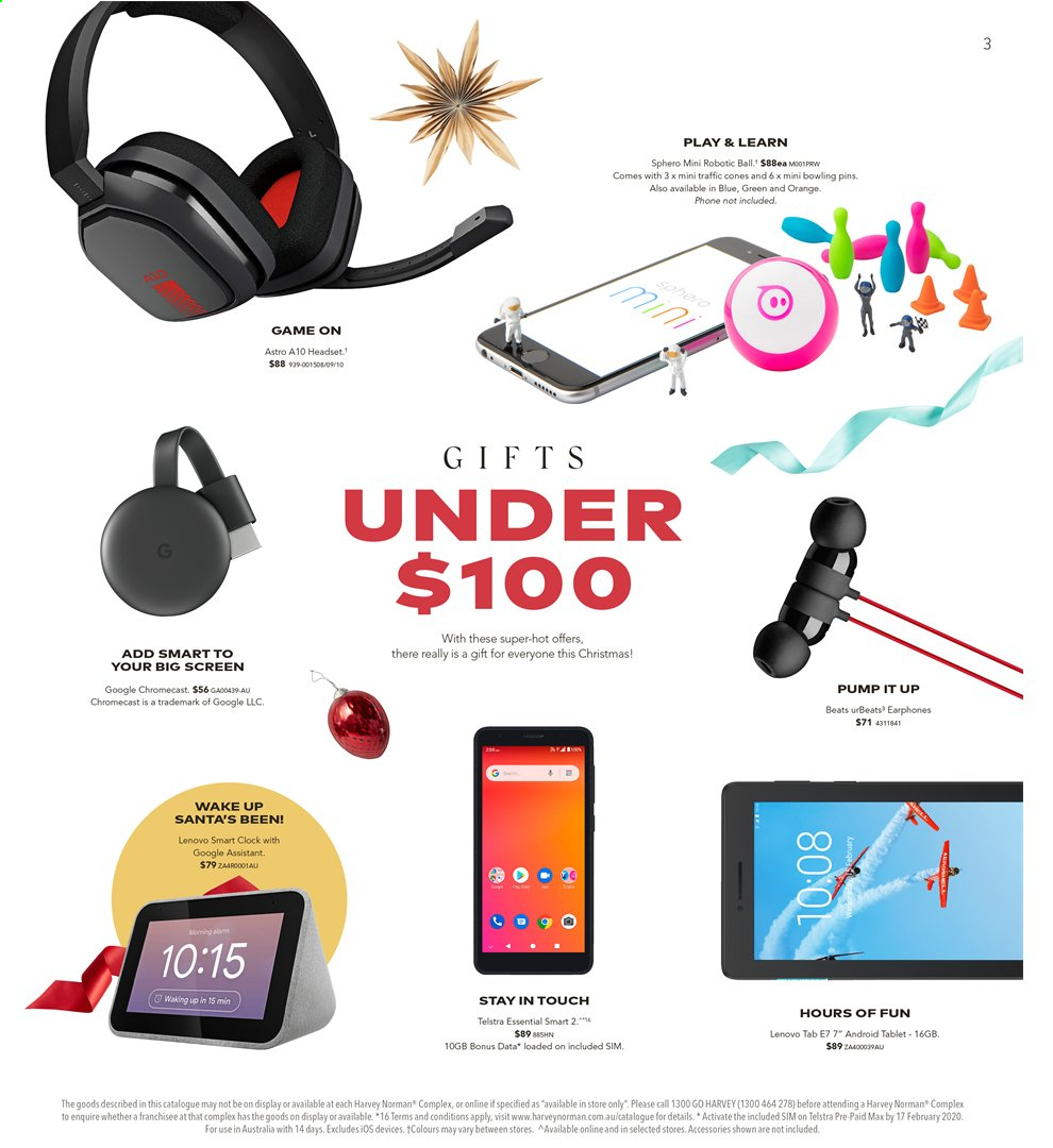 Harvey Norman catalogue  - 15.11.2019 - 1.12.2019. Page 3.