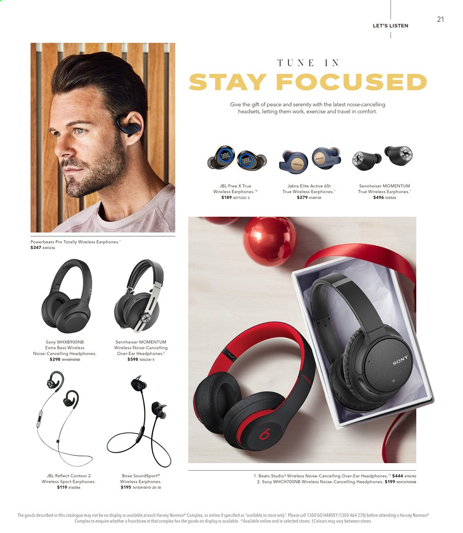 Harvey Norman catalogue  - 15.11.2019 - 1.12.2019. Page 21.