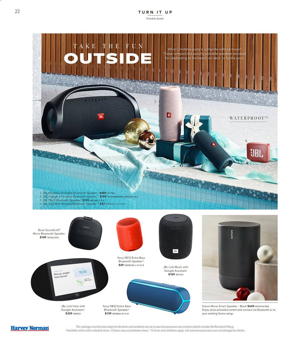 Harvey Norman catalogue  - 15.11.2019 - 1.12.2019. Page 22.