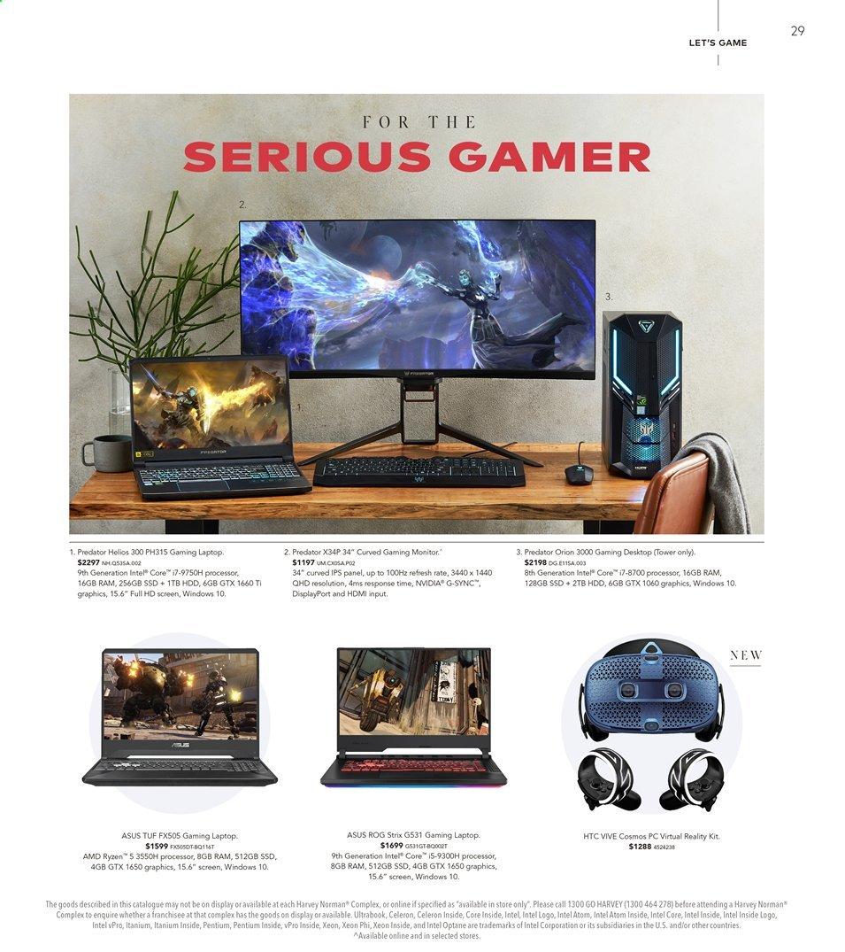 Harvey Norman catalogue  - 15.11.2019 - 1.12.2019. Page 29.