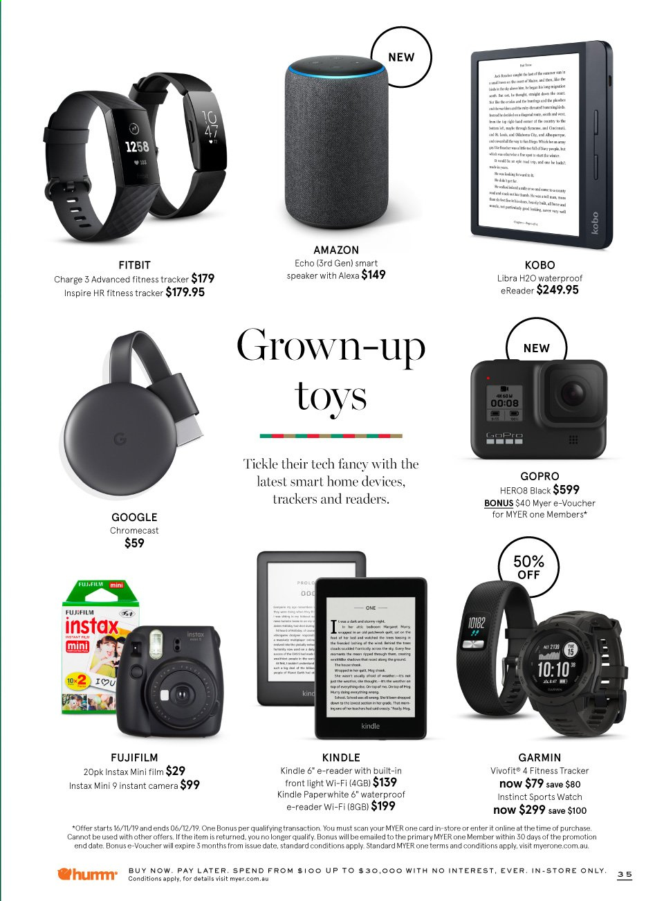 Myer catalogue  - 16.11.2019 - 6.12.2019. Page 35.
