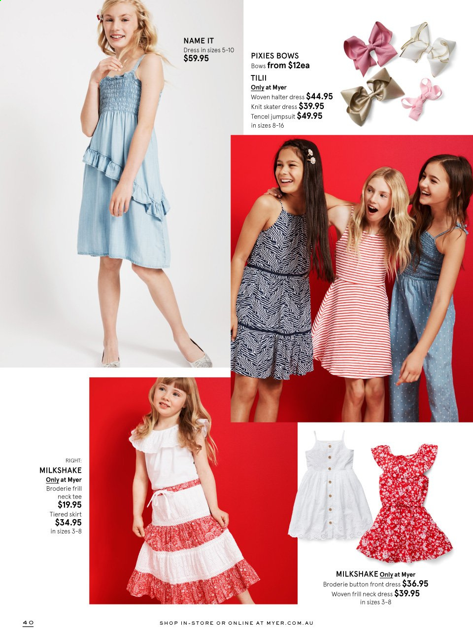 Myer catalogue  - 16.11.2019 - 6.12.2019. Page 40.