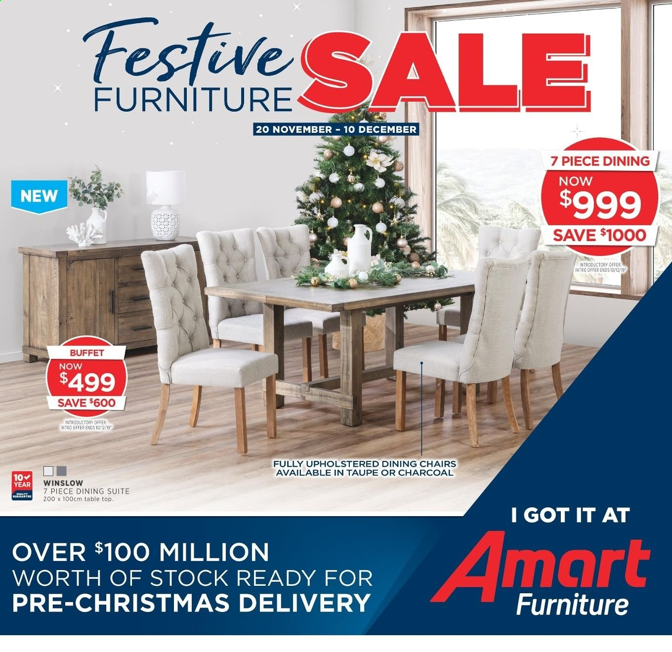 Amart Furniture catalogue  - 20.11.2019 - 10.12.2019. Page 1.
