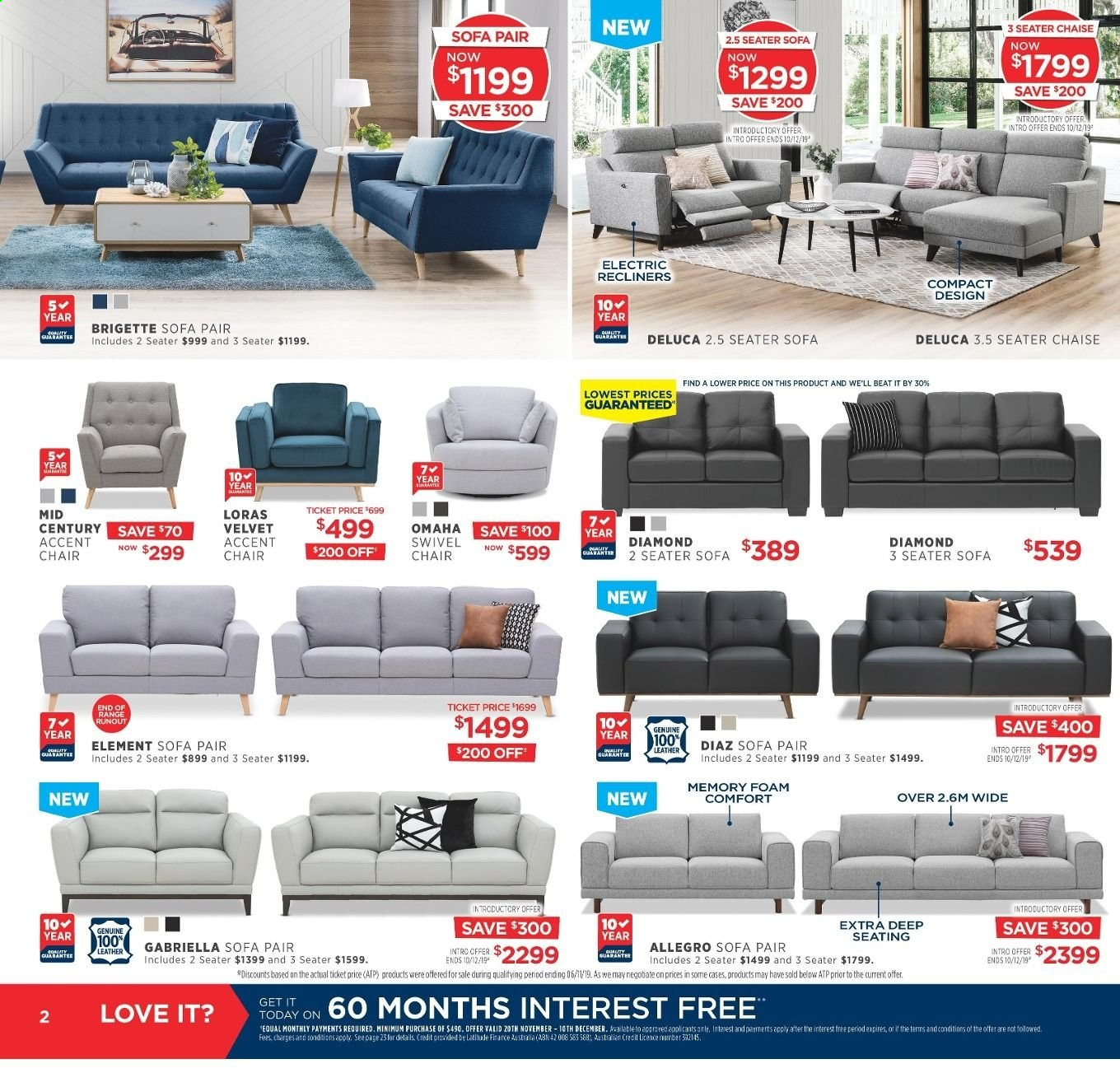 Amart Furniture catalogue  - 20.11.2019 - 10.12.2019. Page 2.