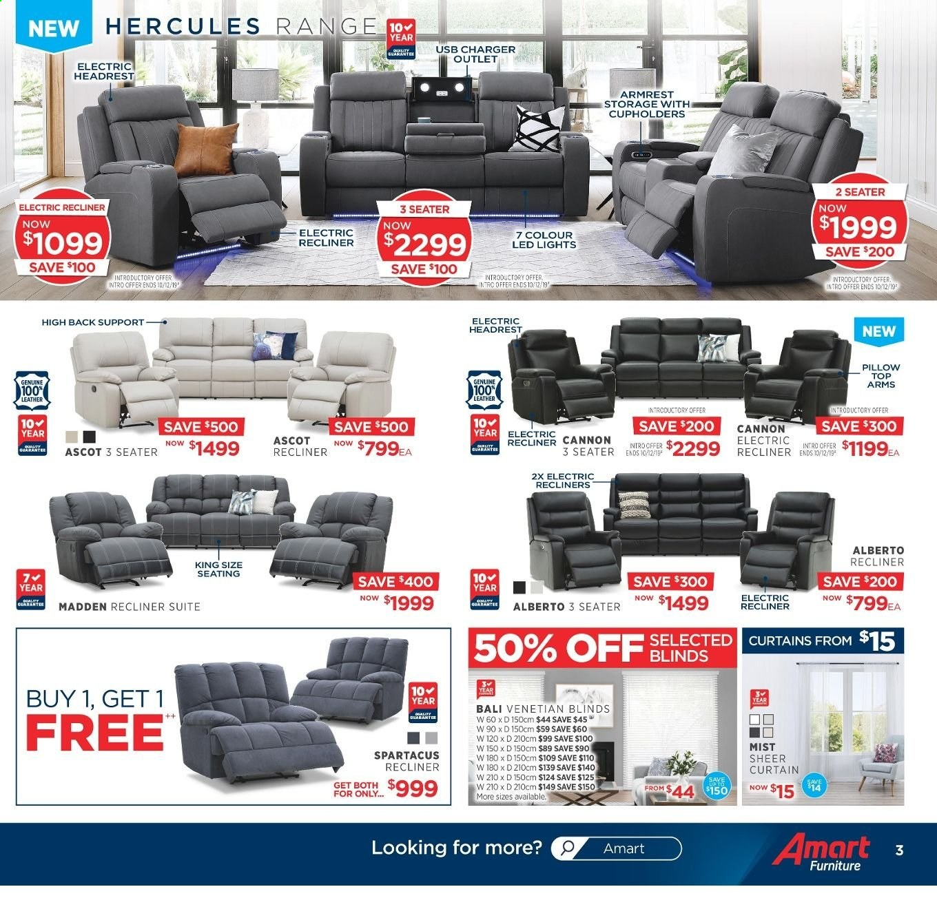 Amart Furniture catalogue  - 20.11.2019 - 10.12.2019. Page 3.
