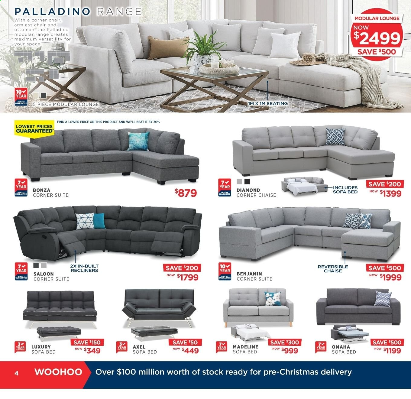 Amart Furniture catalogue  - 20.11.2019 - 10.12.2019. Page 4.