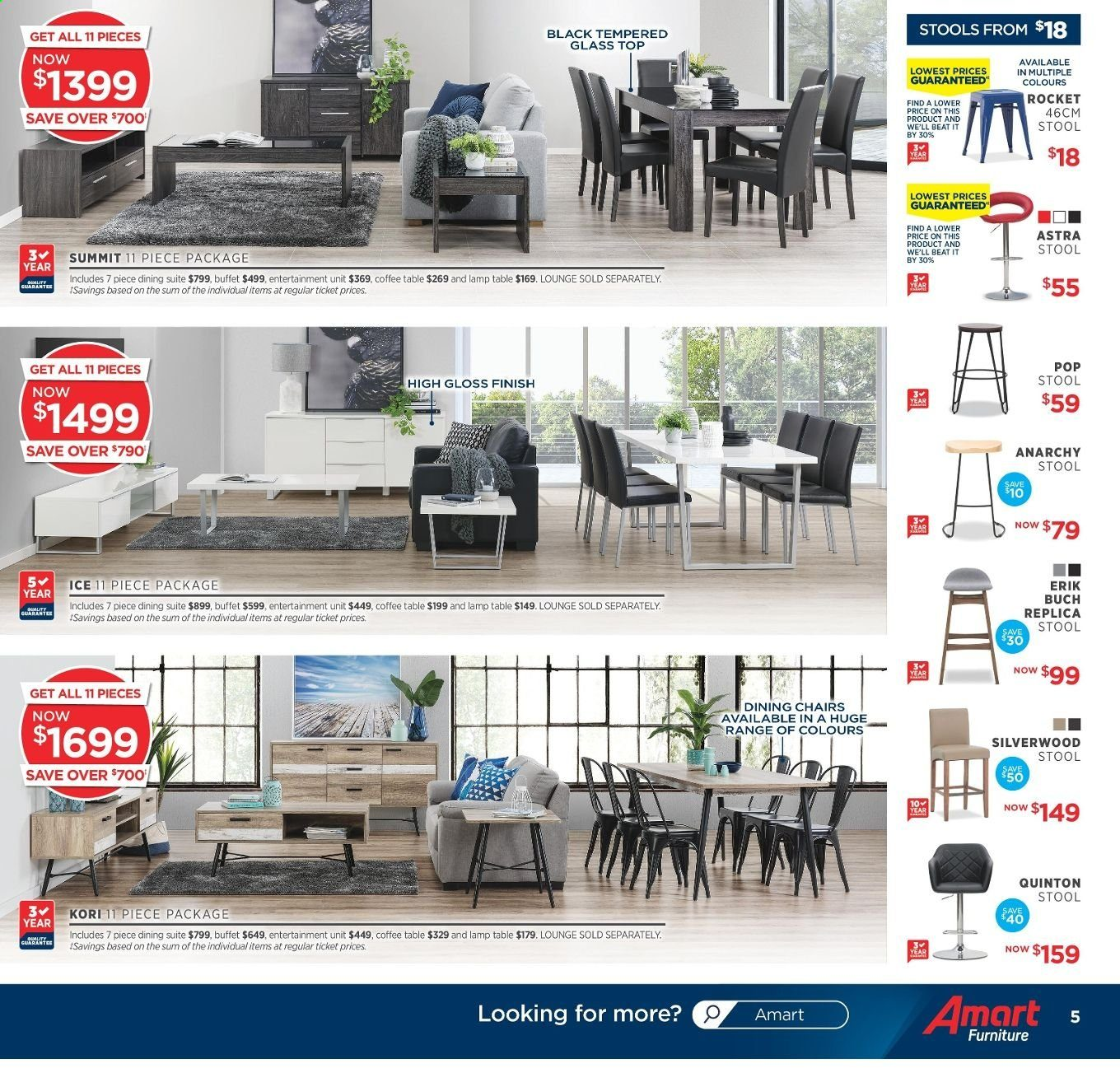 Amart Furniture catalogue  - 20.11.2019 - 10.12.2019. Page 5.