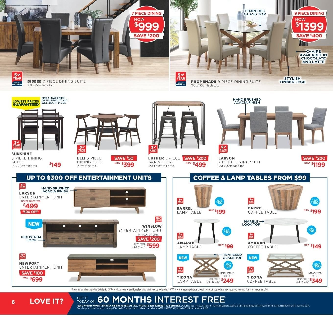 Amart Furniture catalogue  - 20.11.2019 - 10.12.2019. Page 6.