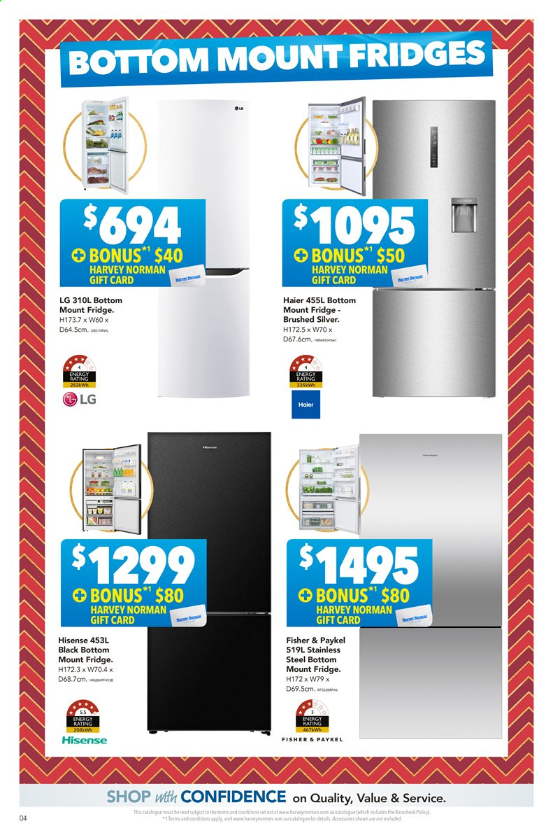 Harvey Norman catalogue  - 22.11.2019 - 8.12.2019. Page 4.