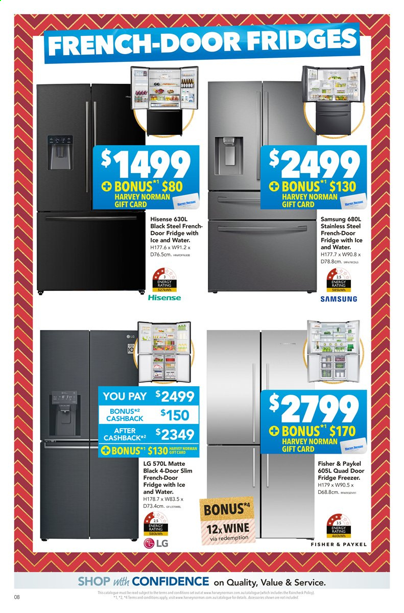 Harvey Norman catalogue  - 22.11.2019 - 8.12.2019. Page 8.