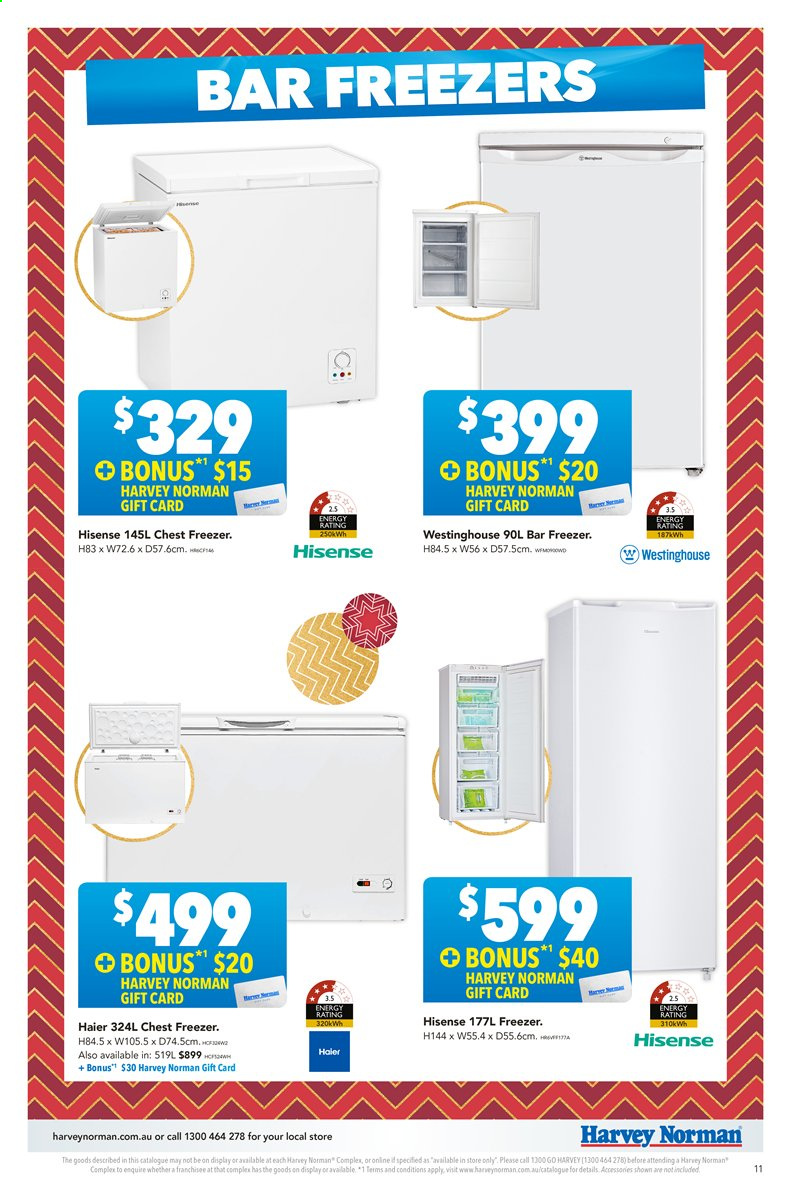 Harvey Norman catalogue  - 22.11.2019 - 8.12.2019. Page 11.