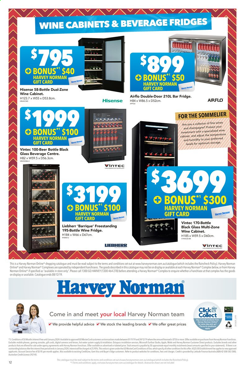 Harvey Norman catalogue  - 22.11.2019 - 8.12.2019. Page 12.