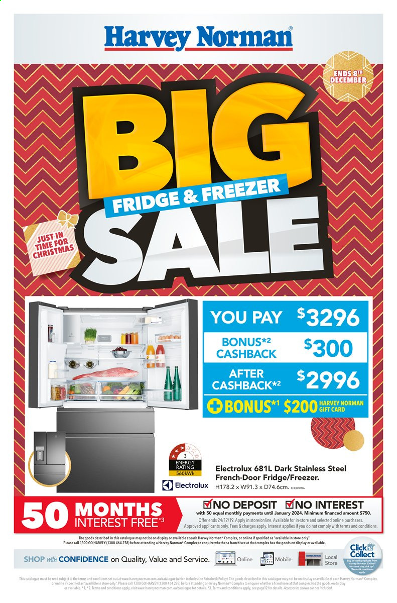 Harvey Norman catalogue  - 22.11.2019 - 8.12.2019. Page 1.