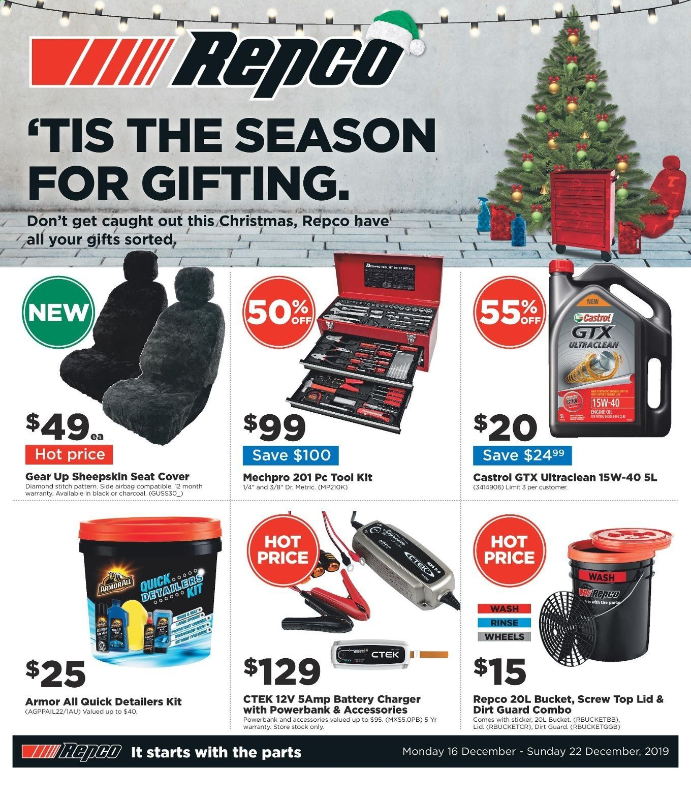 Repco catalogue  - 16.12.2019 - 22.12.2019. Page 1.
