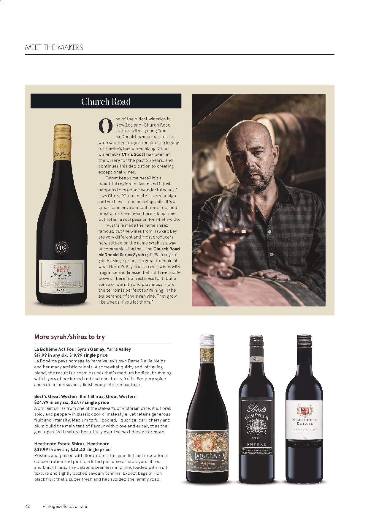 Vintage Cellars catalogue  - 19.2.2020 - 31.3.2020. Page 42.