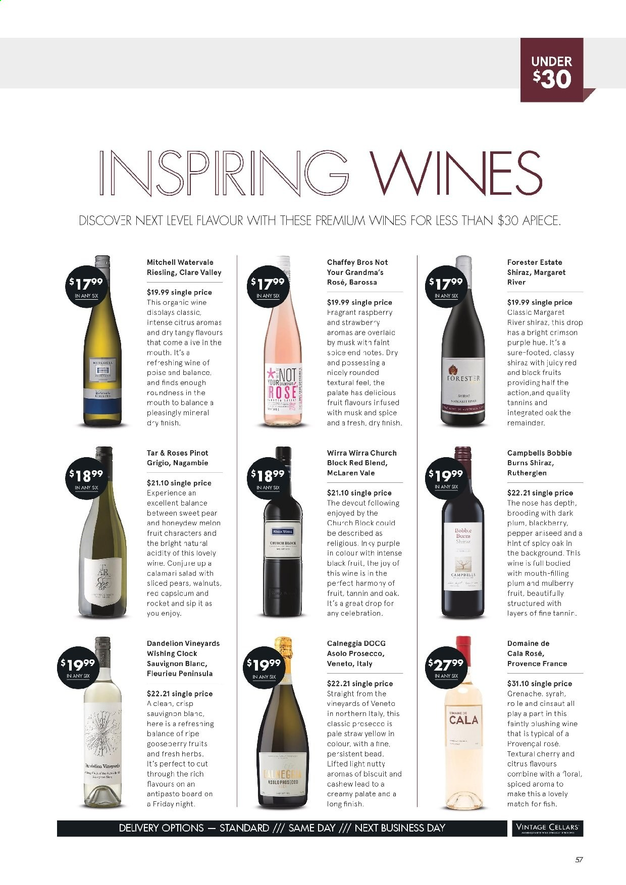 Vintage Cellars catalogue  - 19.2.2020 - 31.3.2020. Page 57.