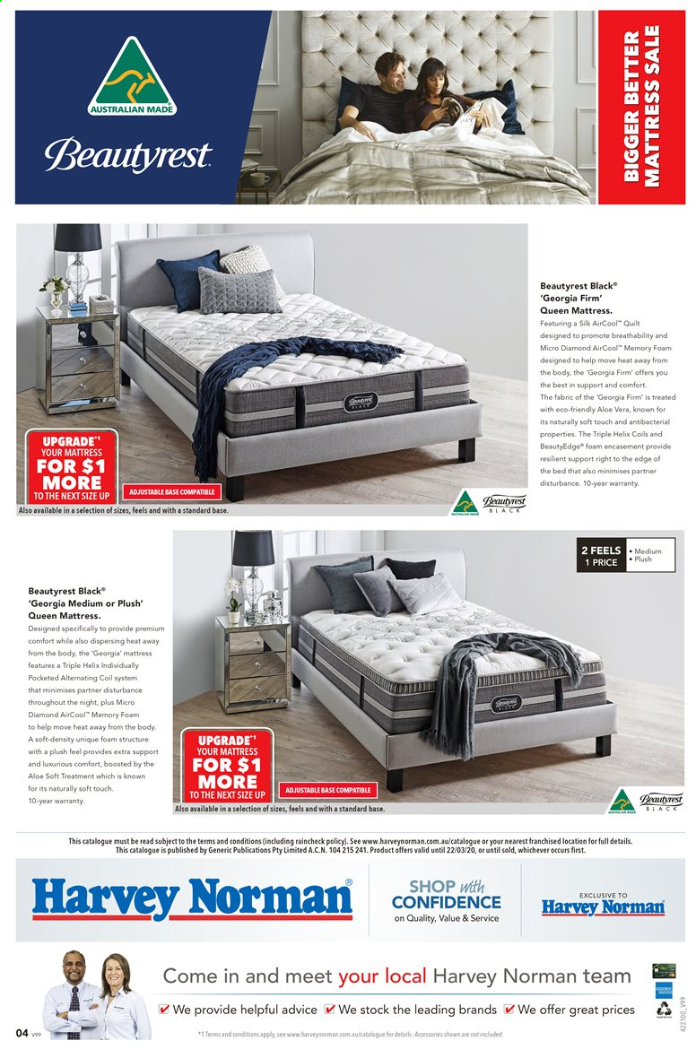 Harvey Norman catalogue  - 28.2.2020 - 22.3.2020. Page 4.
