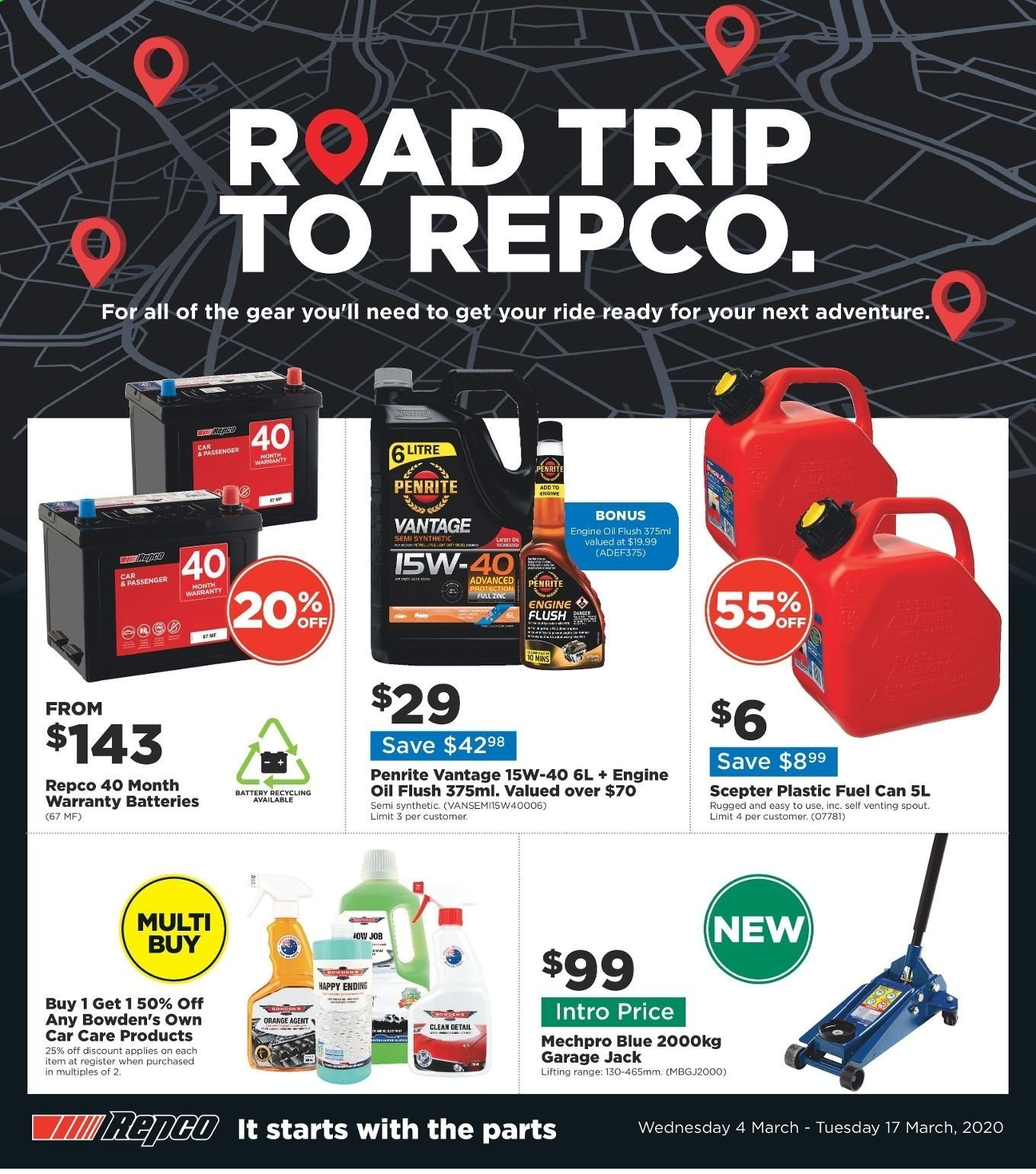 Repco catalogue  - 4.3.2020 - 17.3.2020. Page 1.
