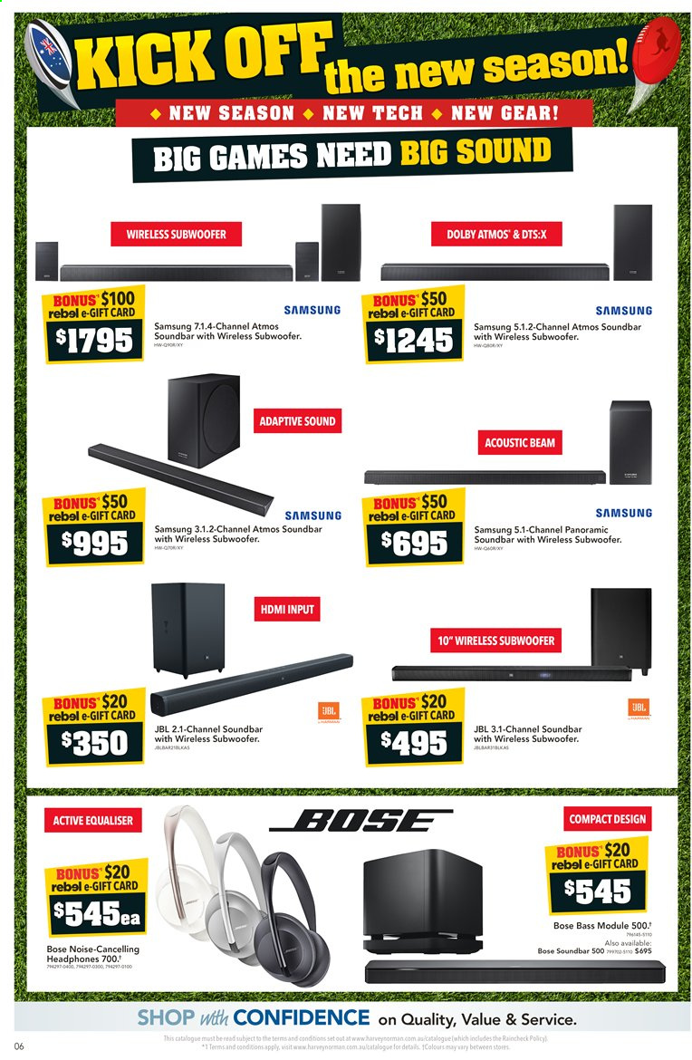 Harvey Norman catalogue  - 10.3.2020 - 22.3.2020. Page 6.