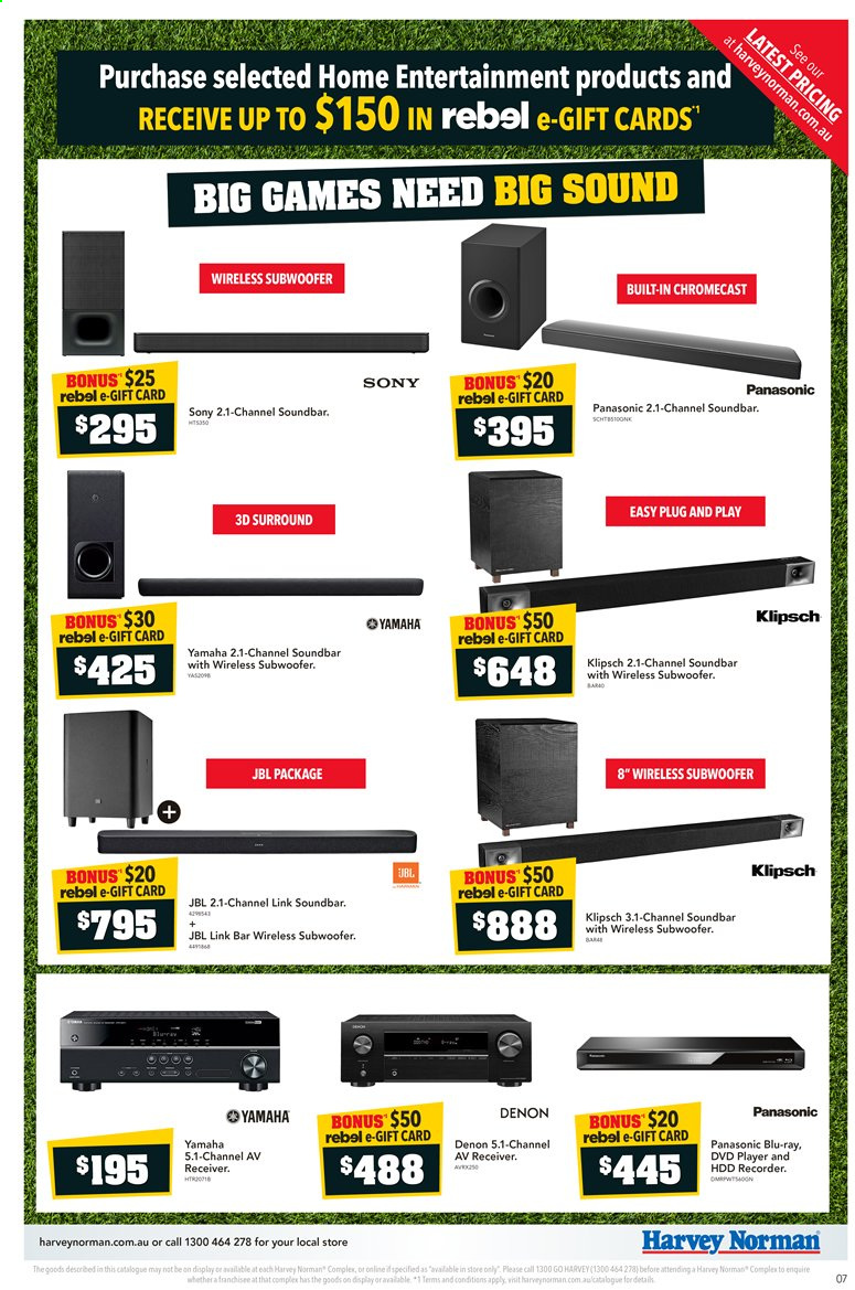 Harvey Norman catalogue  - 10.3.2020 - 22.3.2020. Page 7.