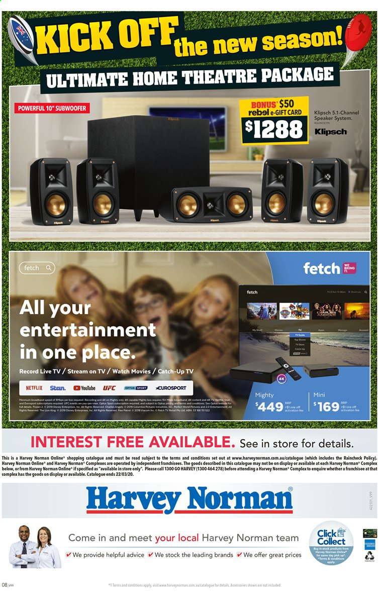 Harvey Norman catalogue  - 10.3.2020 - 22.3.2020. Page 8.