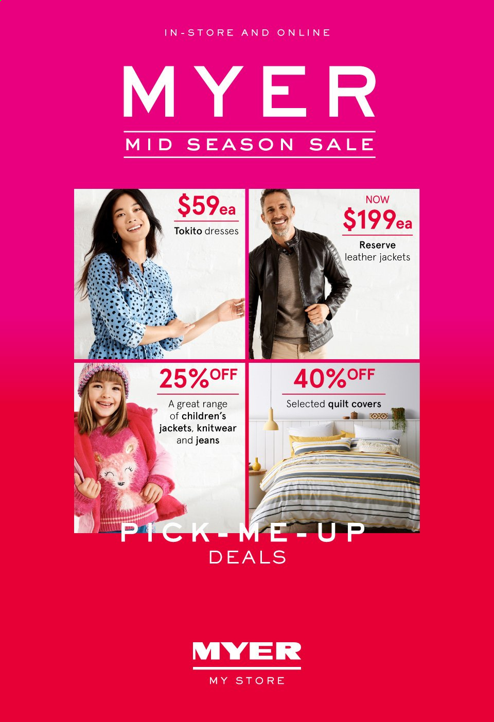 Myer catalogue  - 24.3.2020 - 5.4.2020. Page 1.