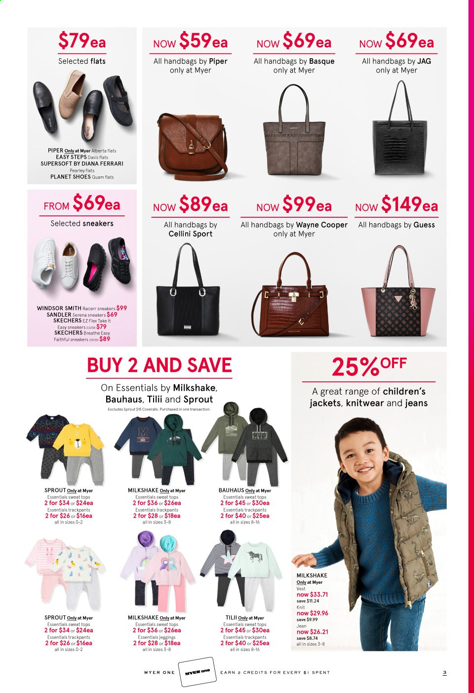 Myer catalogue  - 24.3.2020 - 5.4.2020. Page 3.