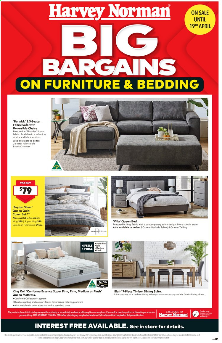 Harvey Norman catalogue  - 27.3.2020 - 19.4.2020. Page 1.