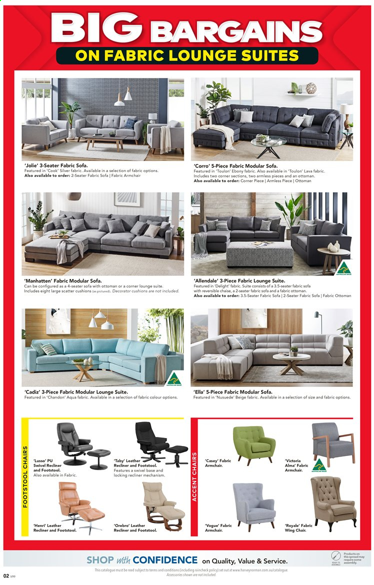 Harvey Norman catalogue  - 27.3.2020 - 19.4.2020. Page 2.