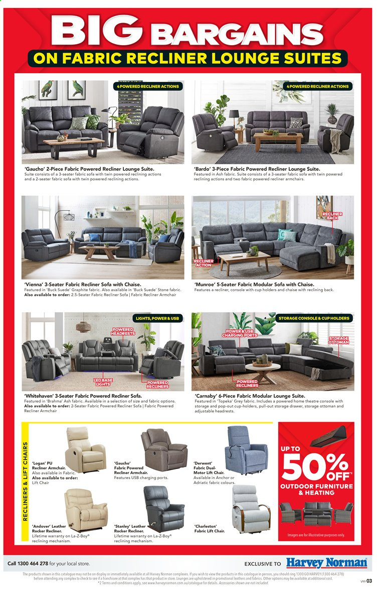 Harvey Norman catalogue  - 27.3.2020 - 19.4.2020. Page 3.