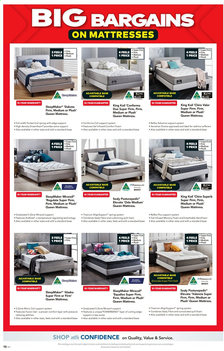 Harvey Norman catalogue  - 27.3.2020 - 19.4.2020. Page 10.