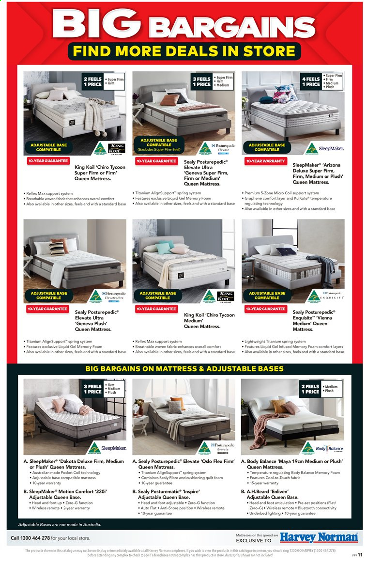 Harvey Norman catalogue  - 27.3.2020 - 19.4.2020. Page 11.