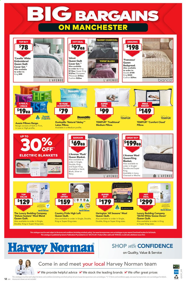 Harvey Norman catalogue  - 27.3.2020 - 19.4.2020. Page 12.