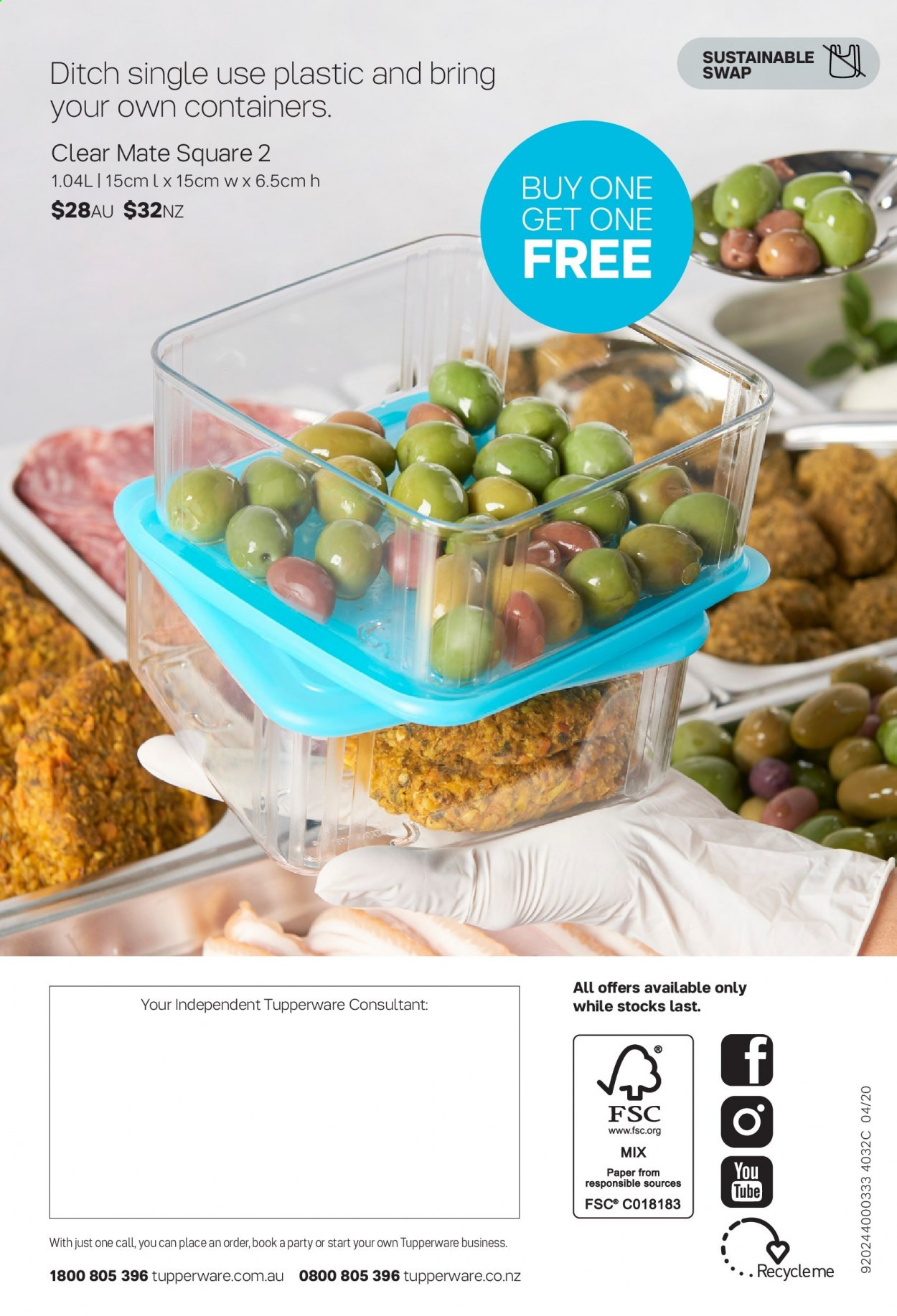 Tupperware catalogue  - 30.3.2020 - 3.5.2020. Page 18.