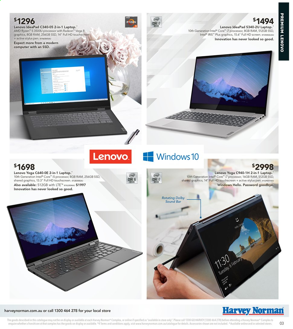 Harvey Norman catalogue  - 2.4.2020 - 19.4.2020. Page 3.