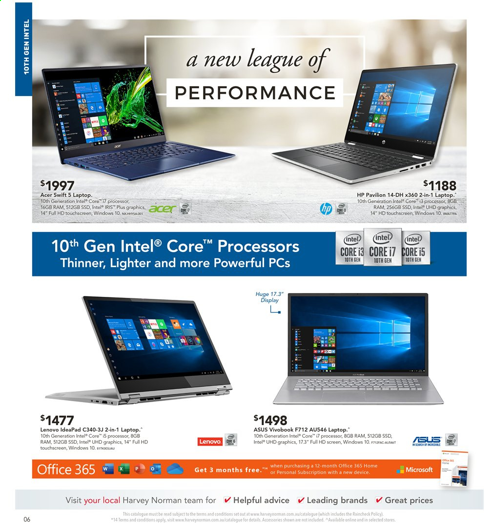 Harvey Norman catalogue  - 2.4.2020 - 19.4.2020. Page 6.