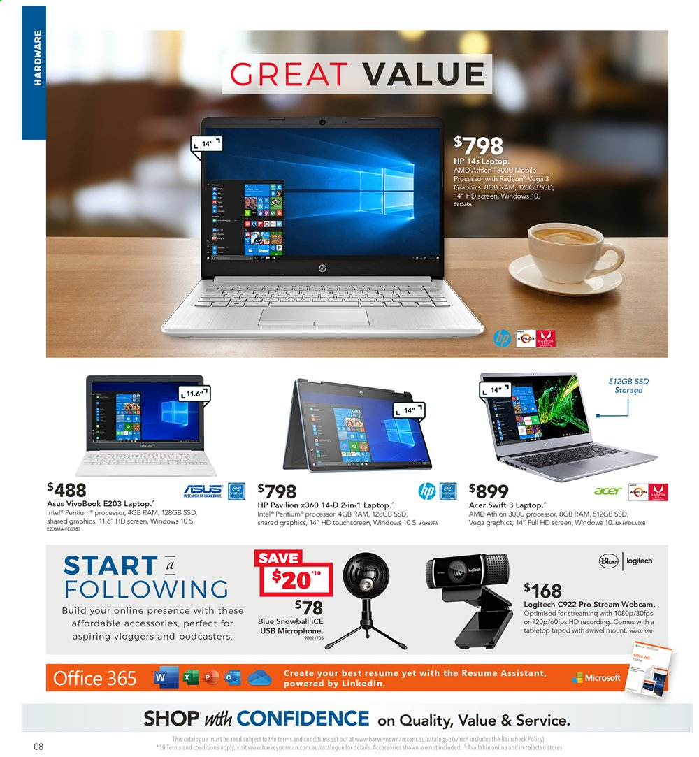 Harvey Norman catalogue  - 2.4.2020 - 19.4.2020. Page 8.