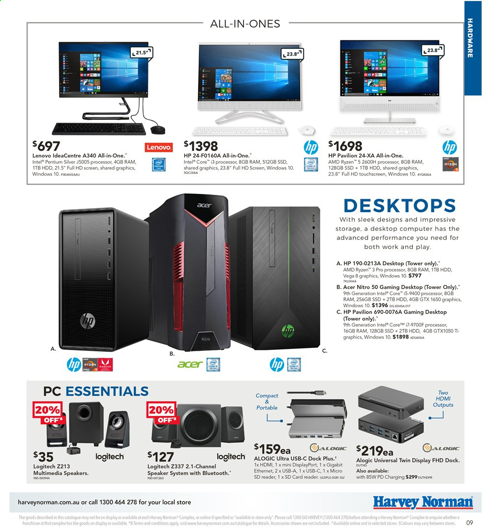 Harvey Norman catalogue  - 2.4.2020 - 19.4.2020. Page 9.