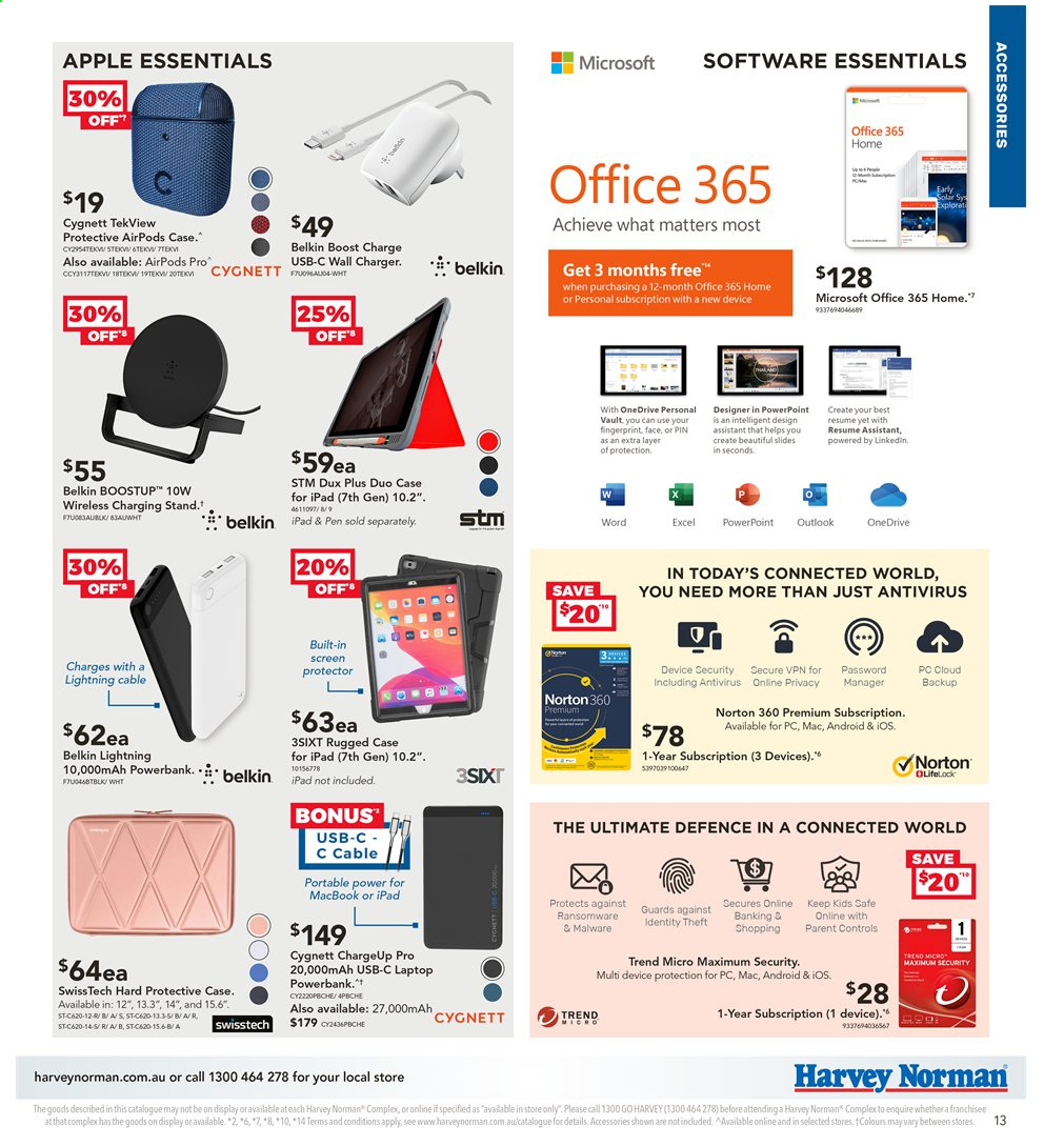 Harvey Norman catalogue  - 2.4.2020 - 19.4.2020. Page 13.
