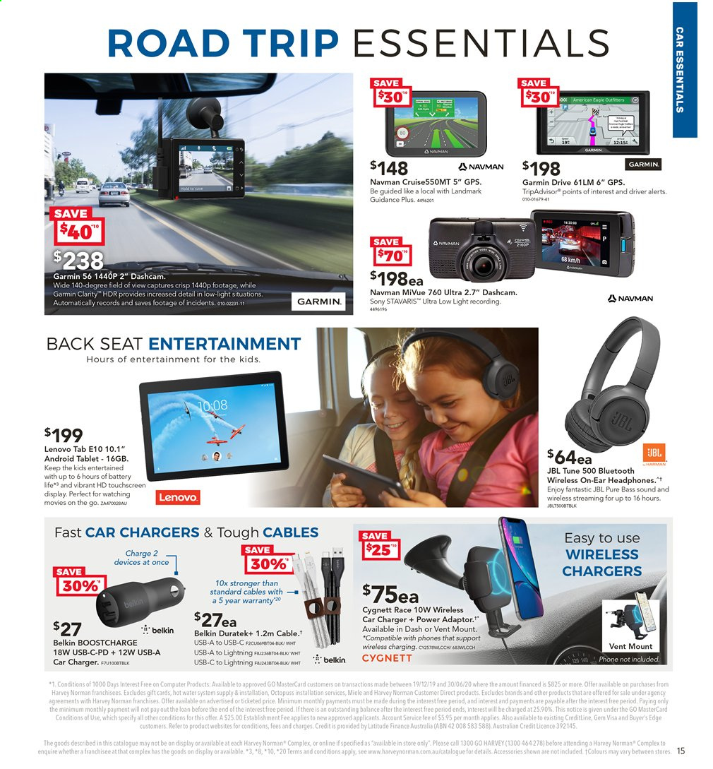 Harvey Norman catalogue  - 2.4.2020 - 19.4.2020. Page 15.