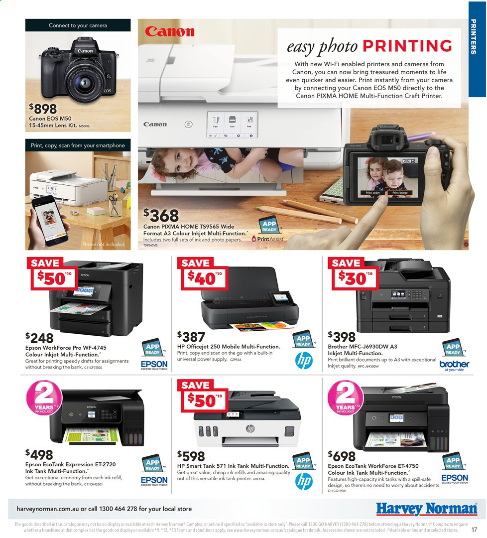 Harvey Norman catalogue  - 2.4.2020 - 19.4.2020. Page 17.