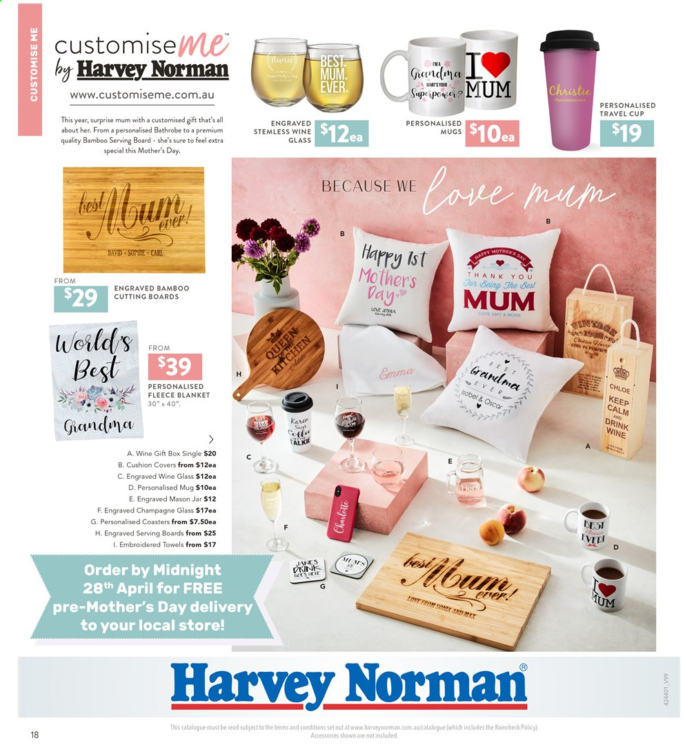 Harvey Norman catalogue  - 2.4.2020 - 19.4.2020. Page 18.