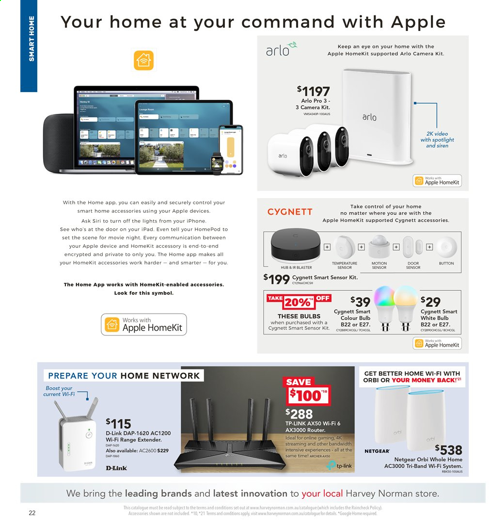 Harvey Norman catalogue  - 2.4.2020 - 19.4.2020. Page 22.