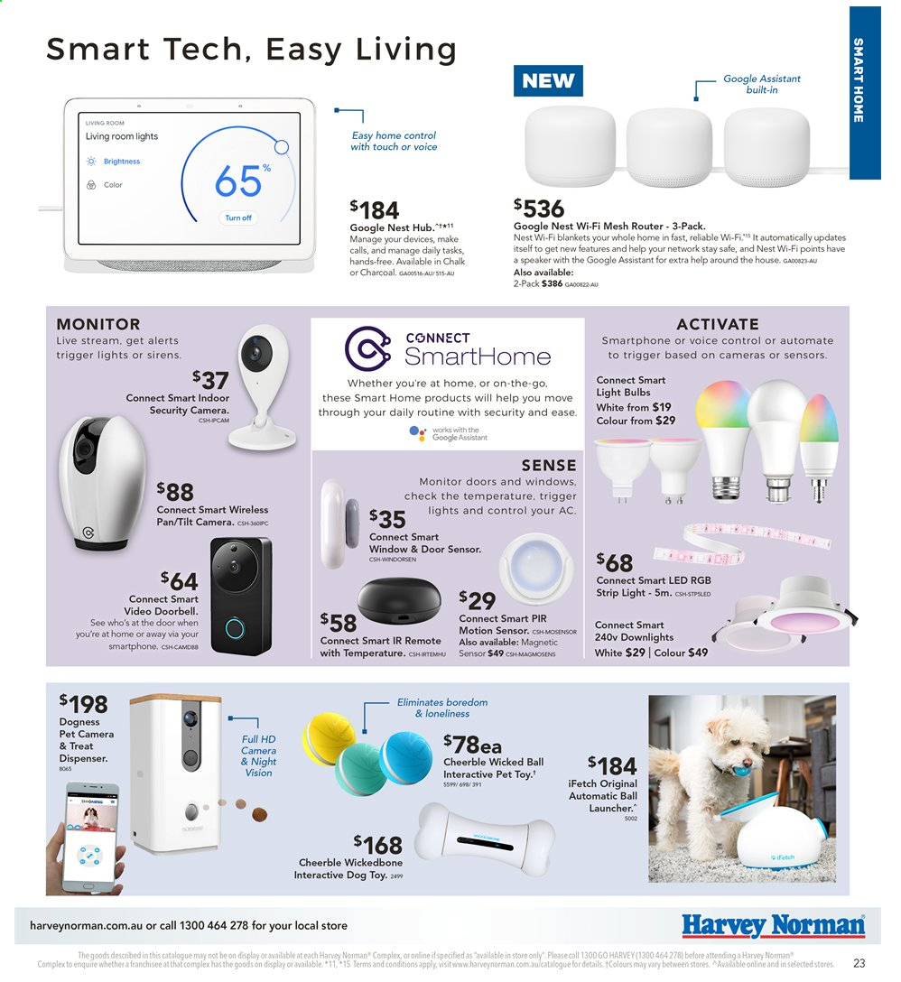 Harvey Norman catalogue  - 2.4.2020 - 19.4.2020. Page 23.