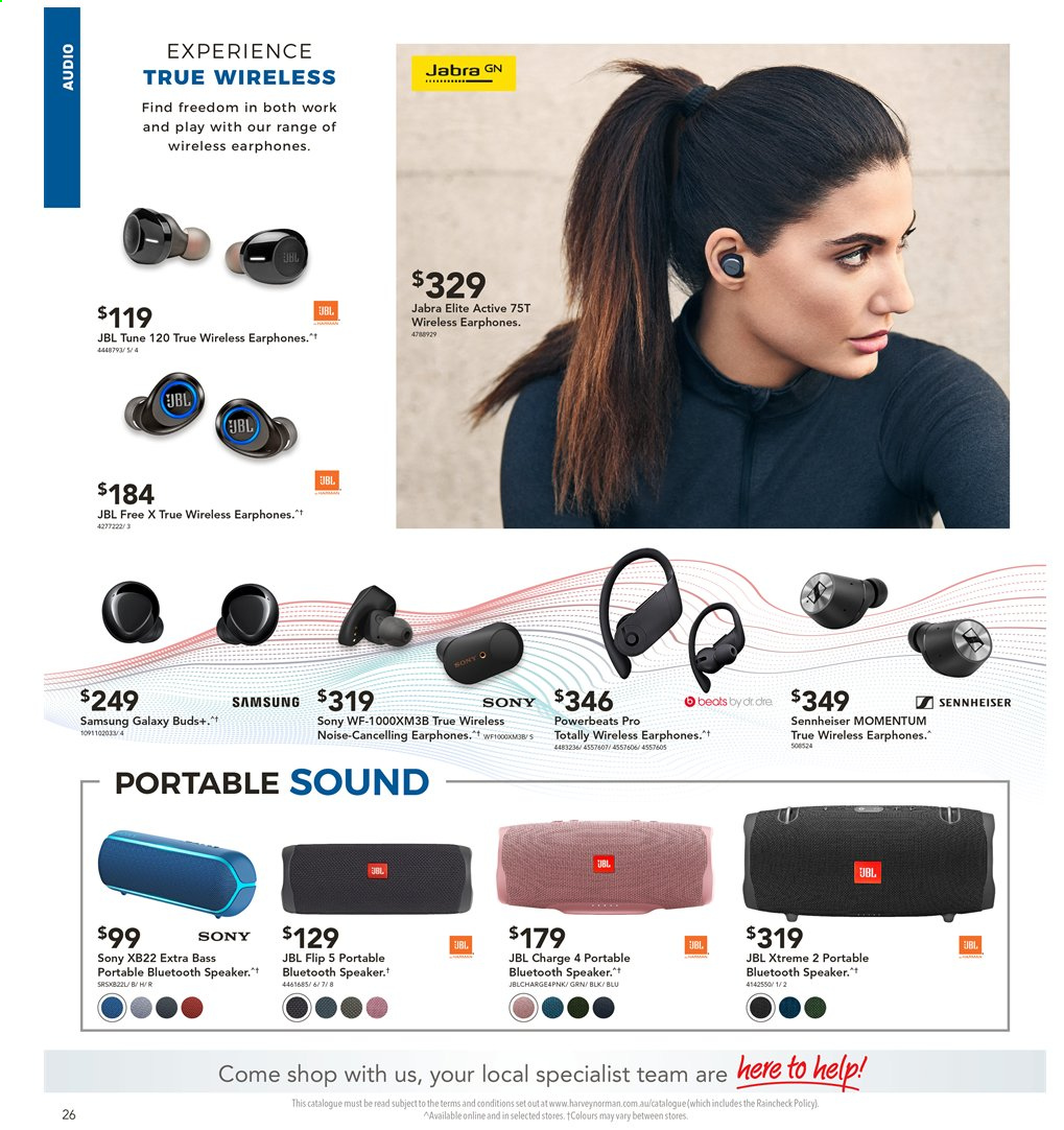 Harvey Norman catalogue  - 2.4.2020 - 19.4.2020. Page 26.