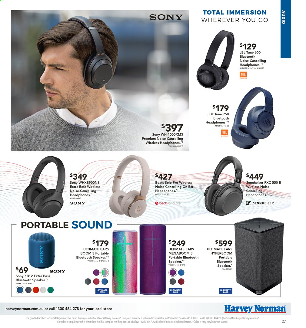 Harvey Norman catalogue  - 2.4.2020 - 19.4.2020. Page 27.